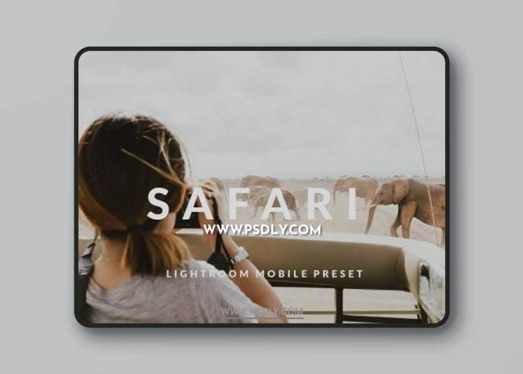 CreativeMarket - Safari Lightroom Mobile Preset 6456544
