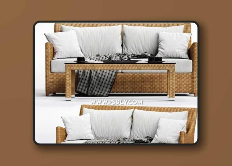 Dolcefarniente SCAURI Sofa 3D Models