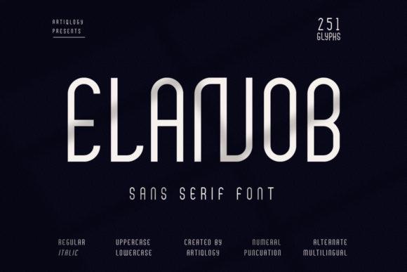 Elanob Font