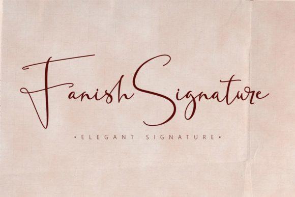 Fanish Signature Font