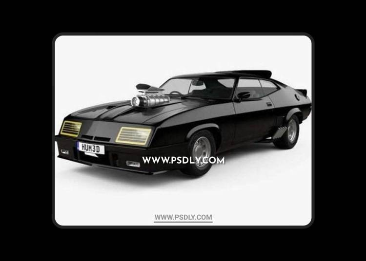Ford Falcon GT Coupe Interceptor Mad Max 1979 3D Models