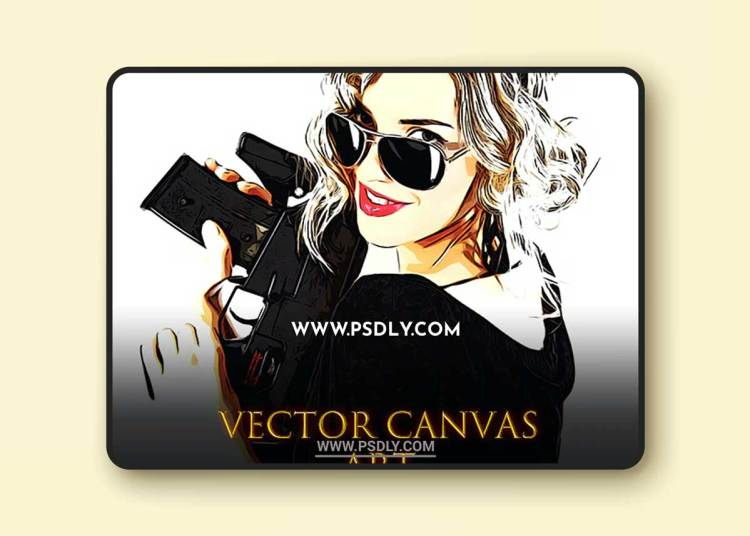 GraphicRiver - Vector Canvas Art Painting Photoshop Action 33762445