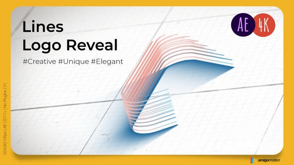 Videohive Architect Lines Logo Reveal 34132556