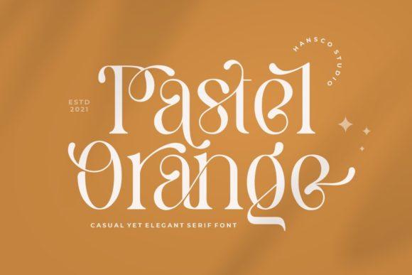 Pastel Orange Font