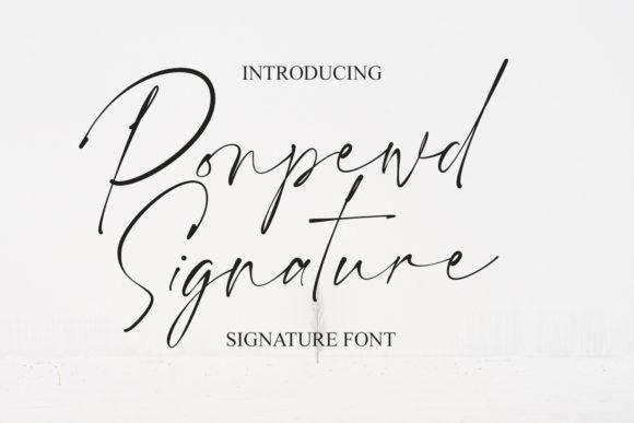 Ponpewd Signature Script Font