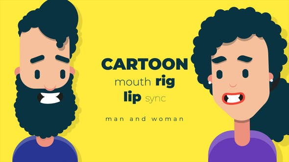 Videohive Cartoon mouth rig with lip sync 34117403