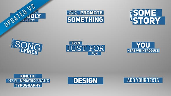 Videohive Kinetic Typography 17826623