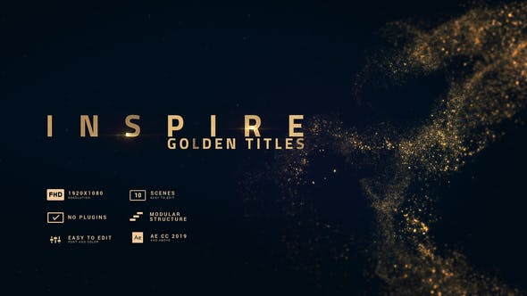 Videohive Inspire   Smooth Golden Titles 30326425