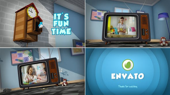 Videohive Kids Tv Opener 34042940