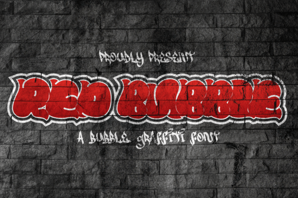 Red Bubble Font