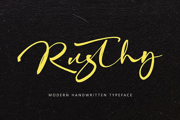 Rusthy Font