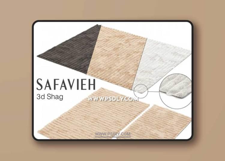 SAFAVIEH 3D SHAG SET 3D Models