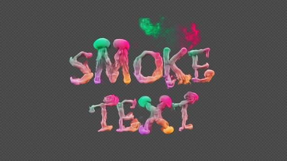 Videohive Smoke Text Typography 23817596