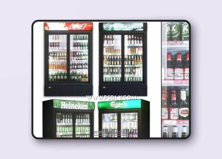 Showcase 003. Refrigerator 3d model