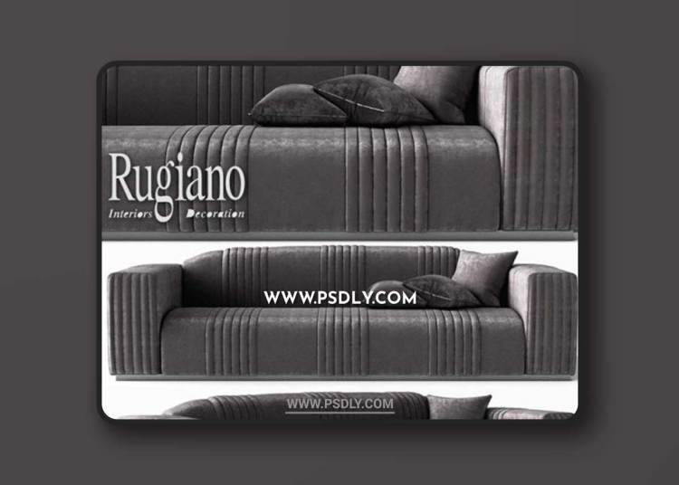 Sofa Rugiano 3D Models