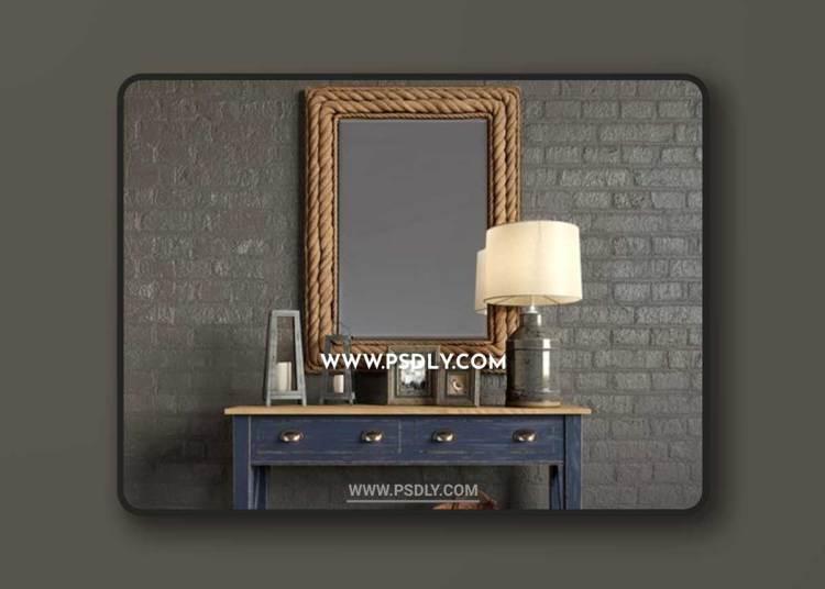 Summerville Wall Mirror, Milk Jug Accent Table Lamp, Console Marc Aurele - Lavande, Decoration
