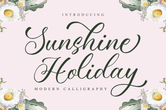 Sunshine Holiday Font