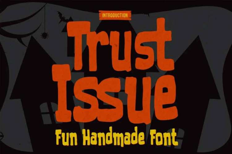 Trust Issue - Fun Handmade Font