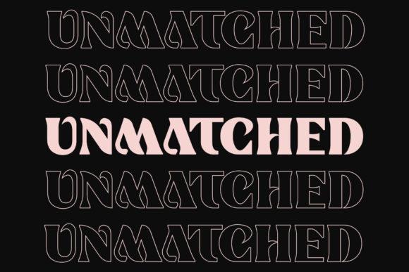 Unmatched Font