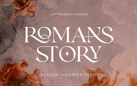 CM - Romans Story - Ligature Serif Font 6461973