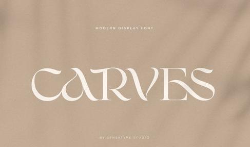 CARVES - Modern Display Font
