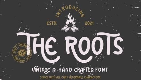The Roots - Vintage and Hand Crafted Font