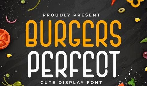 Burgers Perfect - Display Font