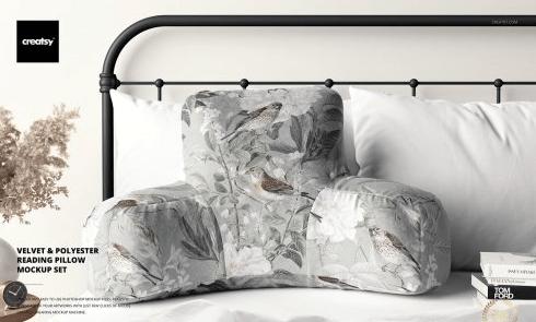 CreativeMarket - Reading Pillow Mockup Set 6494376