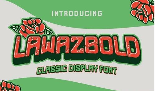Lawazbold Vintage retro Font classic