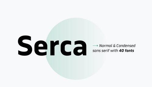 Serca Font Family Font