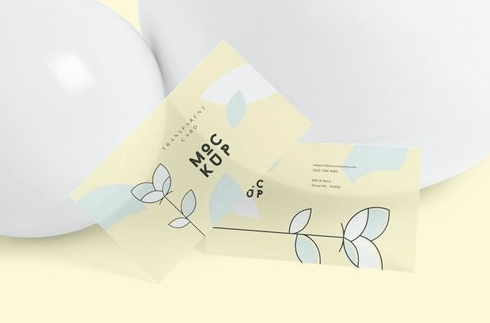 CreativeMarket - Transparent Card Branding Mockups 4646661