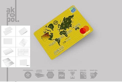 CreativeMarket - Credit Cards Mockup 3036076
