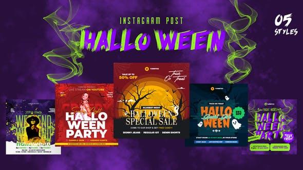 Videohive Halloween Instagram Post 34019085