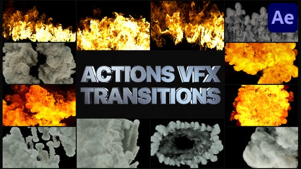 Videohive Smoke And Fire Transitions | After Effects 30139156