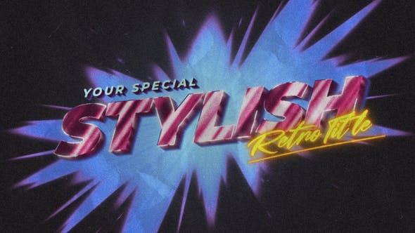 Videohive 80s Retro Opener Title & Logo 33851499