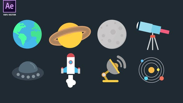 Videohive Space Icons Pack 34094908
