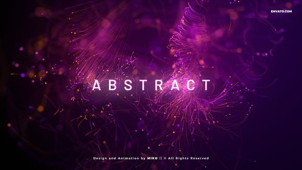 Videohive Abstract Particles Titles V2 33416177