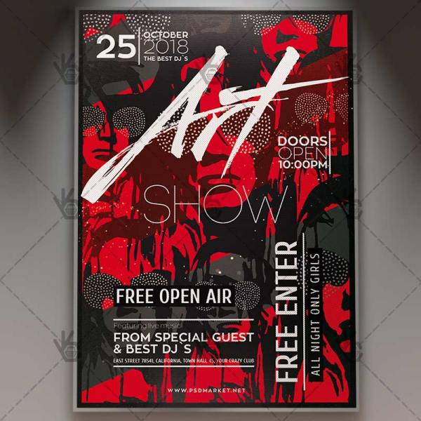 Art Show Event - Business Flyer Psd Template Psdmarket