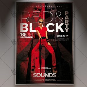 Red And Black Party Club Flyer PSD Template PSDmarket