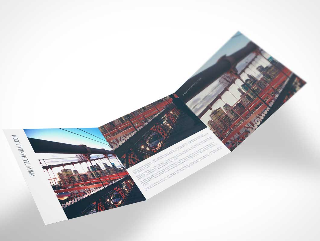 As usual it works with smart objects so you can easily drag and drop your designs. Tri Fold 2 2 Psd Mockups