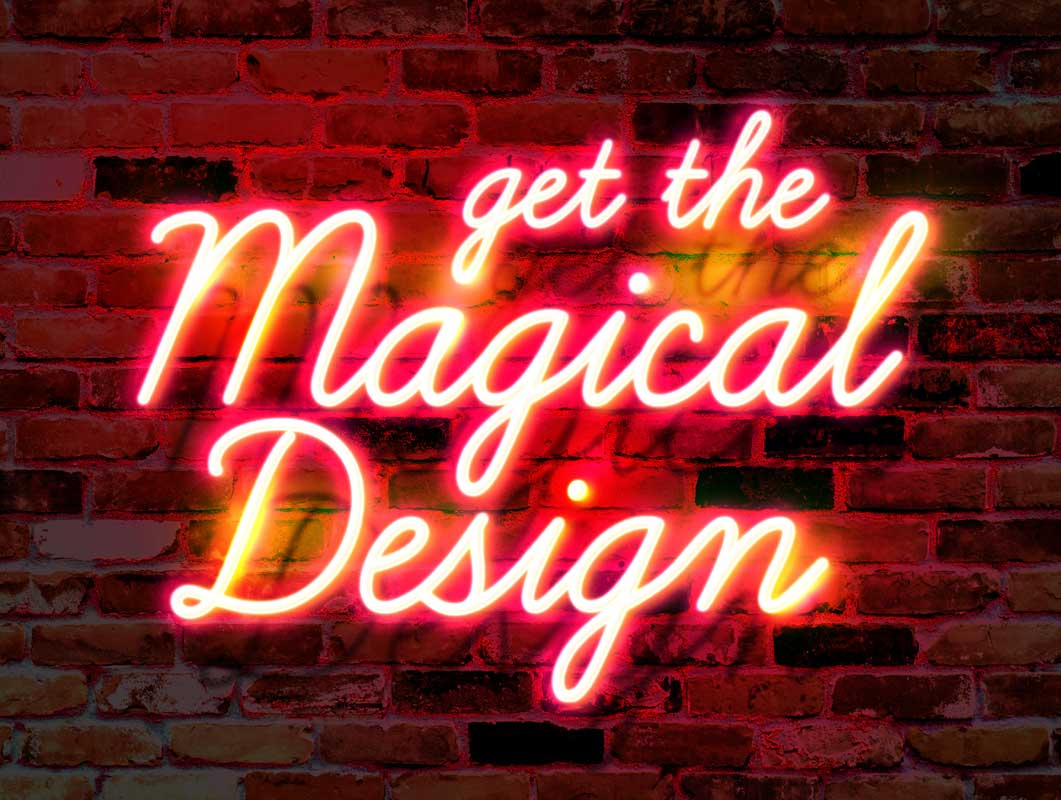 This mockup is smart object. Wall Neon Glow Text Effect Psd Mockup Psd Mockups
