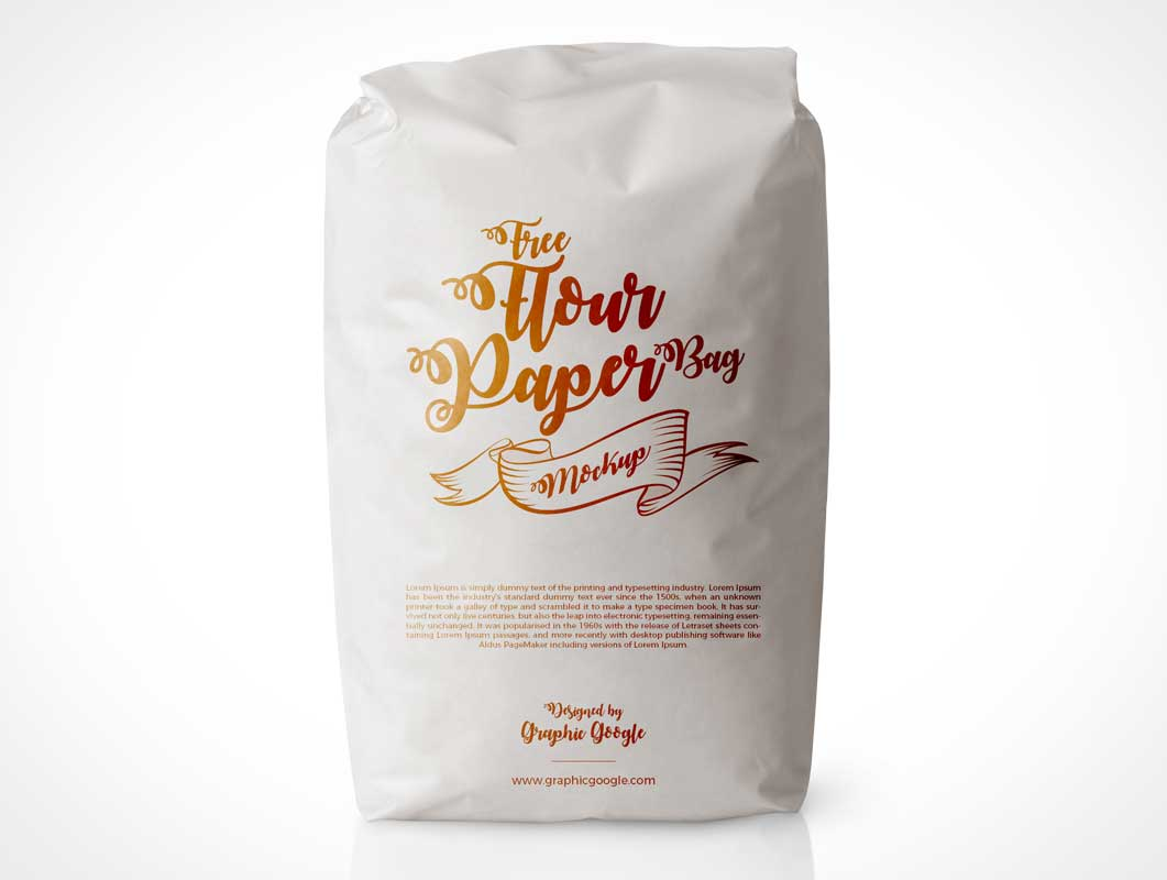 Place your logo design, typography, logotypes or design elements and. Closed Flour Bag Front Psd Mockup Psd Mockups