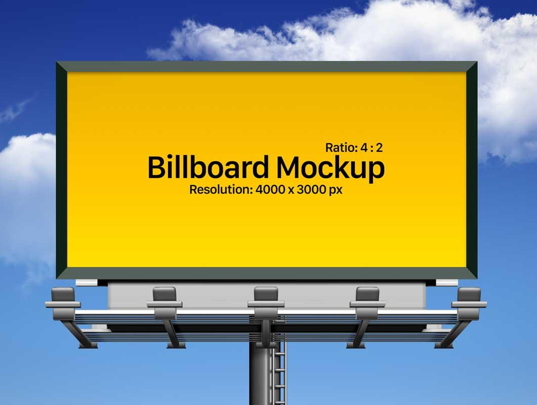 framed outdoor landscape billboard