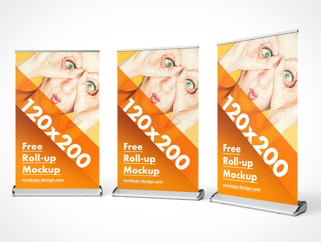 In today's list, we give you roll up banner mockup in psd format. Banner Psd Mockups