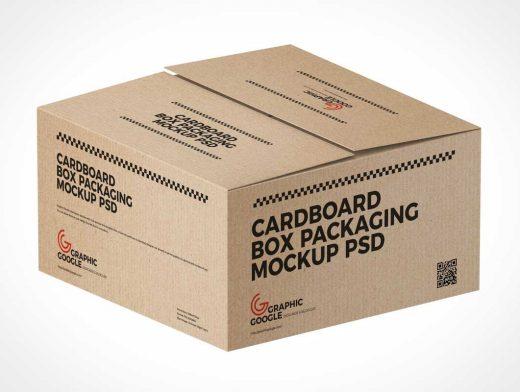 Download Cardboard Shipping Box PSD Mockup - PSD Mockups
