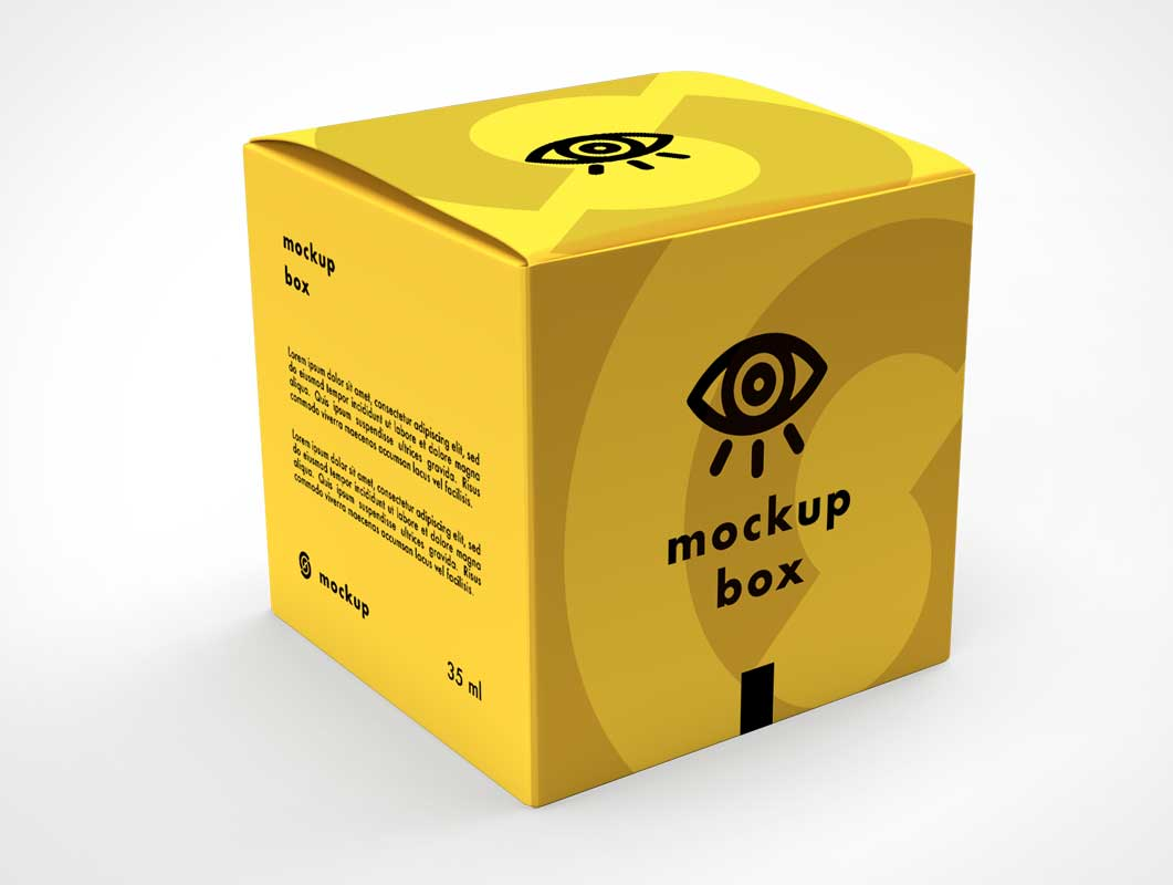 Download Yellow Square Gift Box PSD Mockup - PSD Mockups