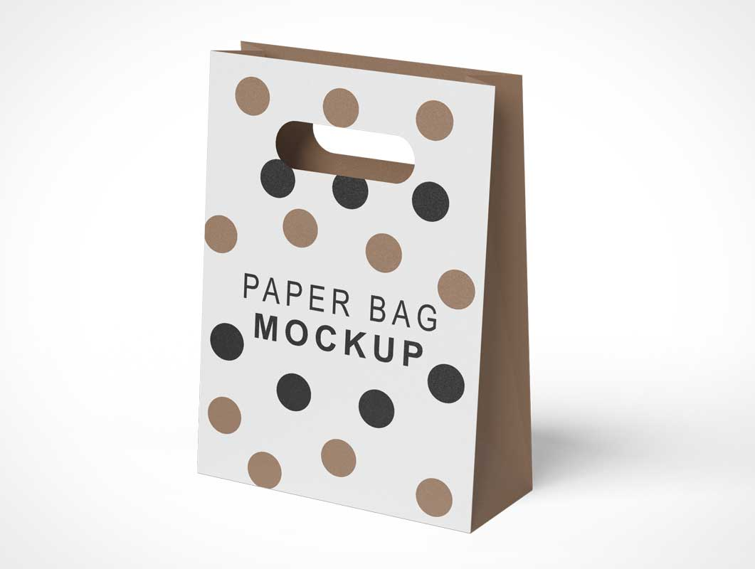 This diverse list of mockups includes wine bottle mockups, mug mockups, box mockups, tote bag mockups, cosmetic mockups and more. Paper Bag Psd Mockups