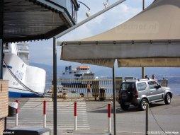 De aankomst van de Acciarello in Messina in oktober 2012.
