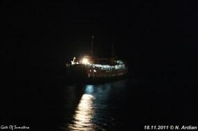 SMS Kartanegara - Voormalige PSD-boot bij nacht