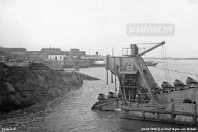 Bouw van de grote sluis in Vlissingen